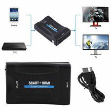 Péritel' à HDMI Convertisseur Audio Vidéo Adaptateur pour 1080P Stb HDTV Sky GB