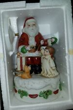 Home Interior Homco 5256 Santa Music Box Christmas Figurine Decoration
