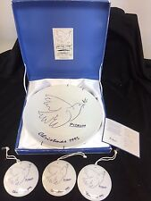 Picasso Living Masterpiece Editions 1995 Peacedove Christmas Plate +3 Ornament