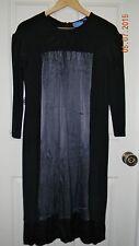 SIMPLY VERA WANG womens Beautiful Black Gunmetal Gray SILK KNIT DRESS* S