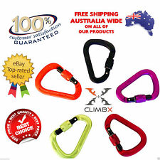 New CLIMBX Ultra HMS  Triple Lock  Screw Hiking Rock Climbing Carabiner Hook  CL