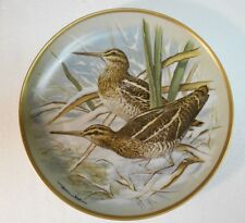 """Collector Plate 1978 GAME BIRDS OF THE WORLD Common Snipe Basil Ede 9"""" France"""