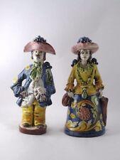 Coppia lumiere fatte decorate a mano in ceramica di Caltagirone H23 Pezzi Unici