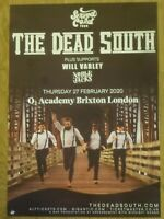 The Dead South + Will Varley, Noble Jacks - London feb.2020 concert gig poster