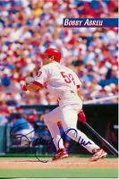 Bobby Abreau Autographed 4x6 Stats Card