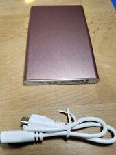 4000mAh Portable Phone Pack Backup External Battery USB Power Bank Charger Pink