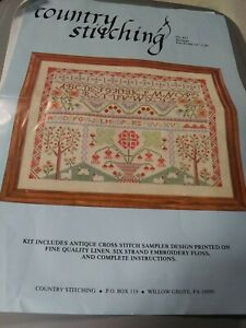 Country Stitching #412 Heritage Sampler Stamped Cross Stitch Kit Opened