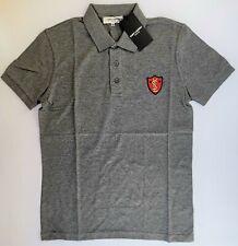 New YSL Men's YVES SAINT LAURENT Polo T-Shirt Size M Paris Shark 100% Cotton