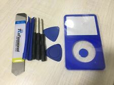 BLUE Front Faceplate Housing Case Cover + Button for iPod Video 5th 30/60/80GB