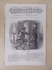 ANTIQUE VICTORIAN THE LEISURE HOUR MAGAZINE PAPER No 1117 MAY 24th 1873