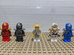 Lego Ninjago Minifigures Lot! Kai ZX, Cole ZX, Zane ZX, Jay ZX, Sensei Wu.