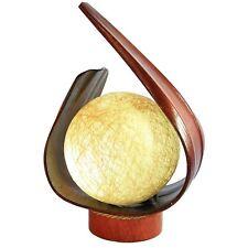 LOTUS (7) Tischlampe BALI LAMPE handgefertigt 43 cm aus Cocosbaum Blättern