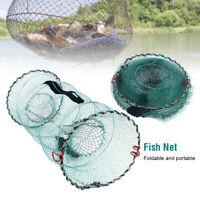 Fishing Pot Crab Fish Crayfish Lobster Shrimp Prawn Eel Live Trap Net Bait Cage