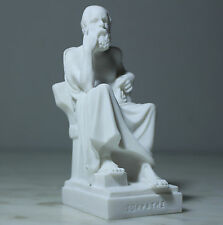 """SOCRATES ANCIENT GREEK FATHER OF PHILOSOPHY BODY STATUE ALABASTER HANDMADE  5.5"""""""
