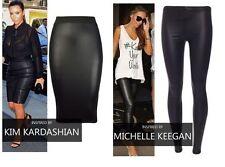 New women Ladies Kim Kardashian Michelle Keegan wetlook Leggings Skirt Size 8-22