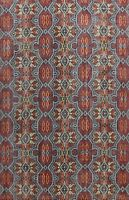 Geometric Oushak Oriental Area Rug Vintage Style Hand-knotted Wool Carpet 8x11