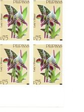 Philippine Stamps- Orchids #3- B/4-  at cost -MNH
