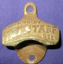Original Starr X Falstaff Beer Wall Mounted Bottle Opener Pat Number Brown Co.
