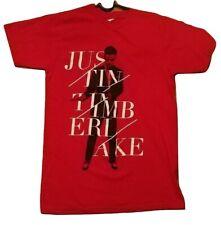 Justin Timberlake Concert Tour 2014 Medium Red Tee T-Shirt (20/20)