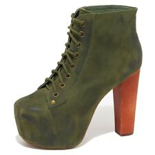 8772N tronchetto JEFFREY CAMPBELL LITA verde stivaletto donna boots woman