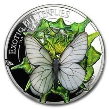 Mongolia 2017 500 Togrog EXOTIC BUTTERFLIES in 3D Silver Proof Coin