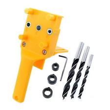 Handheld Dowel Jig ABS Woodworking Jig Pocket Hole Jig Drilling Guide Kit(M)