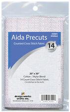 "Cross Stitch ~ Gold Quality Sparkle 14 Count Aida Fabric 20"" x 30"" #Dw3501"