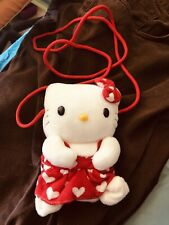 Hello Kitty Small Purse With Hearts Over Shoulder