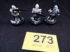Warhammer 40K Praetorian Guard Troopers X 3 with Lasgun undercoated rare OOP