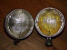 Paire d'optiques de phare MARCHAL 630 Anciens collection