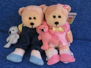 BEANIE KIDS - BENJY THE LITTLE BOY BEAR & EMMA THE LITTLE GIRL BEAR BK 666 667