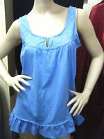 BNWT Ladies Top - BLUE Diamente Swing Tank - Size 12