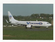 Viking Airlines Boeing 737 at Lourdes Aviation Postcard, A637