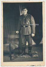 Portrait Wehrmacht Soldat mit Orden  2.WK  (D38)