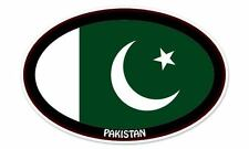 "Pakistan Flag Oval car window bumper sticker decal 5"" x 3"""