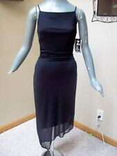 NEW $52 Next Up Black Formal Sheer Spaghetti Strap Dress Size Small S 4 @ cLOSeT