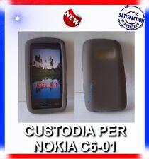 Custodia COVER CASE SILICONE FUME PER NOKIA C6-01