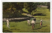 GOLF AT BELMONT MANOR AND GOLF COURSE: Bermuda postcard sent to USA (C24107)