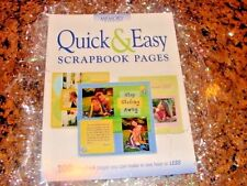 """Memory Makers"" New! Quick & Easy Scrapbook Pages Instruction Book - Ideas!"