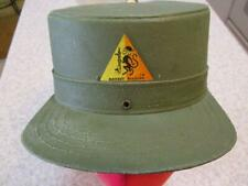 Vtg REMCO MONKEY DIVISION TOY ARMY GREEN MILITARY CAP / Hard Plastic HAT