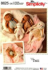 Simplicity Sewing Pattern 8625 Rabbit Bear Teddy Soft Toy Gift Bags Design Tati