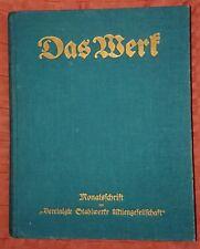 Das Werk XVII.Jahrgang 1937 Werkzeitschrift Vereinigte Stahlwerke AG Düsseldorf