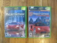 Project Gotham Racing 1 & 2 Bundle Lot Complete CIB Microsoft Xbox Tested