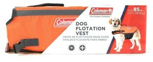 1 Count Coleman Up To 85 Lbs Dog Flotation Vest High Visibility Durable & Stable