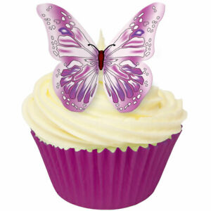 Edible wafer PURPLE & PINK butterflies by CDA Products - Toppers