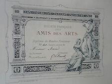 Luc Olivier MERSON-France-Ancien diplôme-SOCIÉTÉ DES AMIS DES ARTS