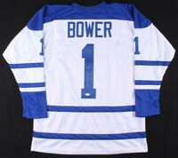 Johnny Bower Autographed Toronto Maple Leafs Hockey Jersey XL COA
