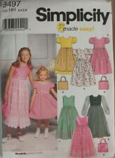 Simplicity 9497 Sewing Pattern Girls' Special Occasion Dresses Sizes 3 4 5 6
