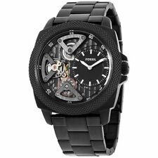 FOSSIL TWIST PRIVATEER BLACK DIAL BLACK ST. STEEL MEN'S WATCH BQ2210 NEW