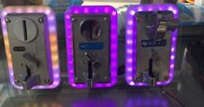 LED Colorful front entry light Electronic Comparable Coin Selector Color changes